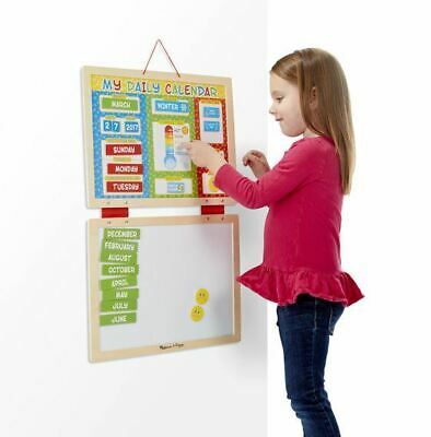 Melissa & Doug My Magnetic Daily Calendar 3+ Wooden Toy • 18.99£