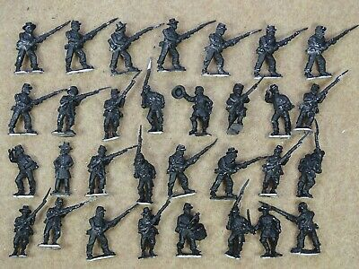 28mm ACW Metal INFANTRY X31 With Command American Civil War 75211 • 20£