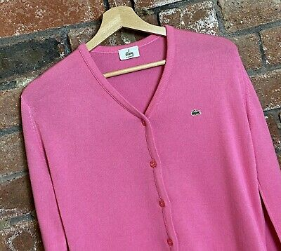 Lacoste Womens Long Sleeve Buttoned Cardigan Size UK 10 / 12  : LS706 • 36.72£