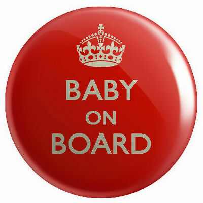 Baby On Board BUTTON PIN BADGE 25mm 1 INCH Pregnant Keep Calm Novelty Mother • 1.69£