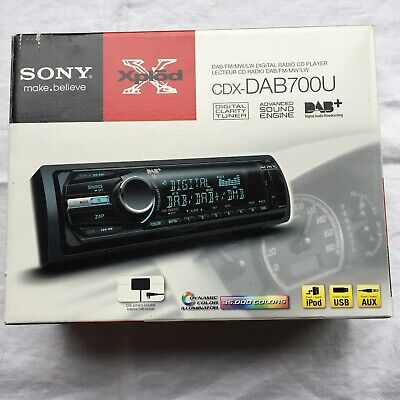 Sony Car Stereo Cdx Dab700u Cd/mp3 Receiver With Built-in Dab And Front Usb/aux • 40£