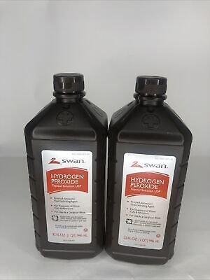 AU16.73 • Buy Hydrogen Peroxide (3 Pack) 32 Fl Oz Antiseptic Topical Solution 3% First Aid