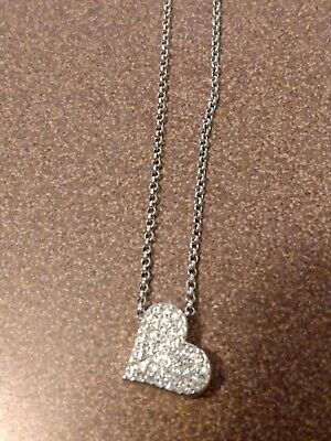 $ CDN7.84 • Buy Lia Sophia Silver Heart Necklace With Clear Crystals