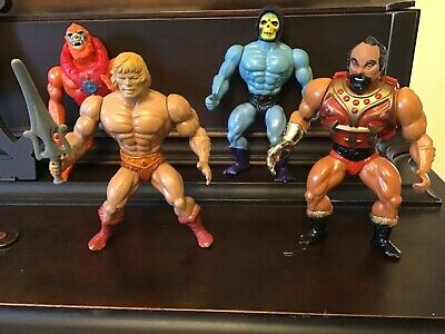 $58 • Buy  4 Different Vintage Masters Of The Universe Mattel MOTU Action Figures Lot 80's