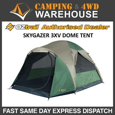 AU109.99 • Buy Oztrail Skygazer 3xv Dome Tent 3p Person Camping Hiking Small New Model