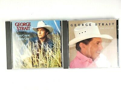 $ CDN6.52 • Buy George Strait Lot Of 2 CDs Easy Come Easy Go Blue Clear Sky Album Country Music