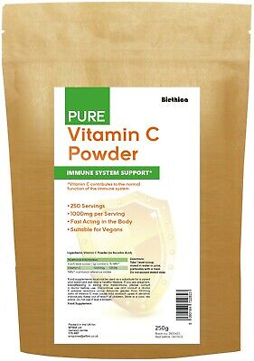 VITAMIN C Powder 250g - 100% Pure Ascorbic Acid • 4.95£