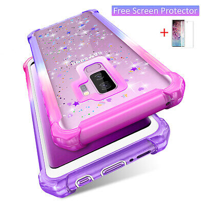 For Samsung Galaxy S10 Note 20 S20 Plus Case Glitter Shockproof Hybrid Cover • 4.99£