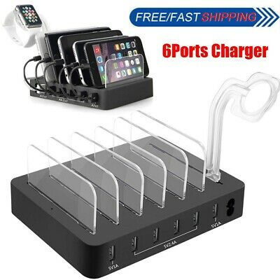 AU40.99 • Buy USB Hub Desktop Charger Station Adapter AU Plug 6 Multi-Ports Charging Dock NEW