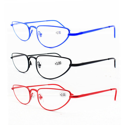$10.01 • Buy Half Moon Readers Reading Glasses Mens Womens Spring Hinges Retro 1.00~3.50 B747