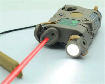 Airsoft PEQ-15 Red Dot Laser White LED Flashlight  IR Lens TAN • 39.99£