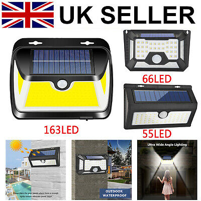 Waterproof LED Solar Wall Light PIR MotionSenor Garden Yard Security Street Lamp • 13.53£