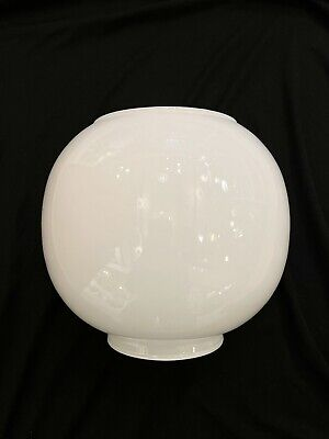 £22.50 • Buy WHITE GLOBE Replacement Glass Lamp Shade For Traditional Vintage Oil Lamp