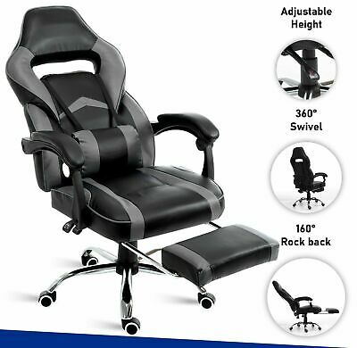£72.99 • Buy Executive Racing Gaming Office Chair Leather Computer Desk Swivel Recliner Chair