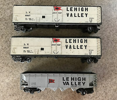 $ CDN15.71 • Buy Vintage Lehigh Valley Freight Cars HO Scale Model Train - Lot Of 3