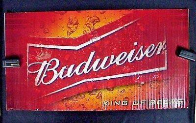$ CDN5.22 • Buy One Budweiser King Of Beer Corrugated Cardboard Poster 16  X 30