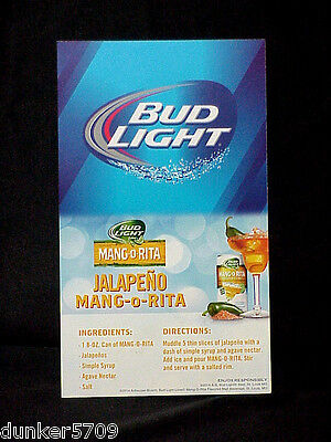 $ CDN5.22 • Buy 2014 Budweiser Bud Light Beer Cardboard Table Wall Card 5  X 8 1/2  Never Used
