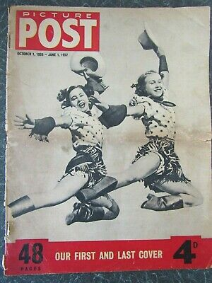 Vintage PICTURE POST Magazine, June 1st 1957, THIS WAS THE FINAL ISSUE • 2.95£
