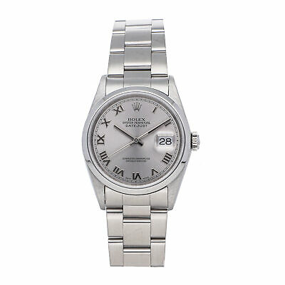 $ CDN6361.27 • Buy Rolex Datejust Auto 36mm Steel Mens Oyster Bracelet Watch 16200