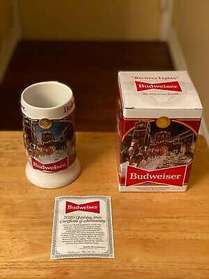 $ CDN29.74 • Buy 2020 Budweiser Holiday Stein 41st Anniversary Edition  Brewery Lights -New W/COA