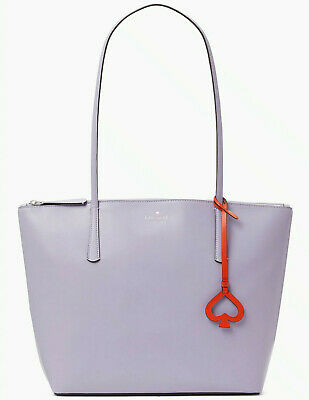 $ CDN133.59 • Buy Kate Spade Zina Smooth Leather Frozen Lilac Large Tote WKRU6852 NWT Lavender