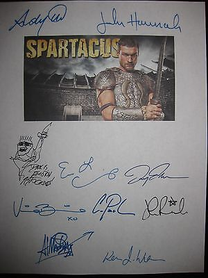 Spartacus Signed TV Script X10 Andy Whitfield Manu Bennett Lucy Lawless Reprint • 7.41£