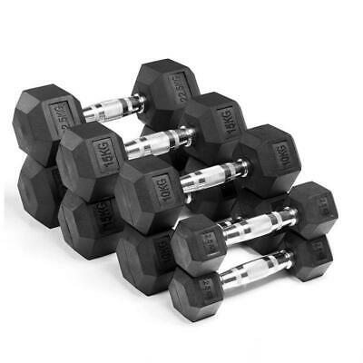 AU105 • Buy Rubber HEX Dumbbells - IN STOCK For Immediate Dispatch