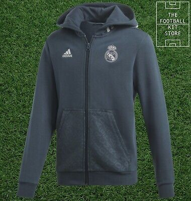 Adidas Real Madrid Hooded Jacket Kids - Hoody / Track Top - Youth - All Sizes • 29.99£
