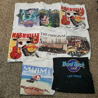 $ CDN104.21 • Buy Vintage Wholesale 90s T-Shirt Lot Of 8 Bundle Hard Rock Cafe Shirts