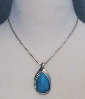 $ CDN2.92 • Buy Lia Sophia Jewelry Silver Turquoise Mohave Necklace