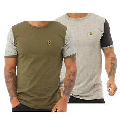 Mens LUKE 1977 Contrast Short Sleeve Jersey Cotton T Shirt Sizes From S To XXL • 20.99£
