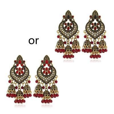 AU6.69 • Buy Retro Indian Bollywood Kundan Jhumka Jhumki Drop Earrings Gypsy Fashion Jewelry
