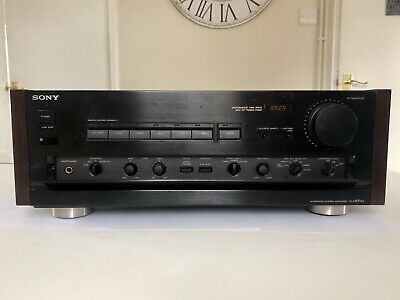 Sony TA-F870ES Integrated Amplifier ~ MM/MC Phono. Wooden Cheeks. Serviced. • 595£