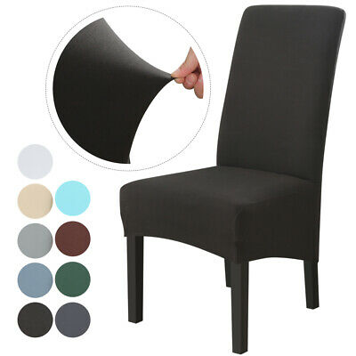 4/6pc Universal Dining Chair Covers Stretch Removable Chair Slipcovers High Back • 13.69£