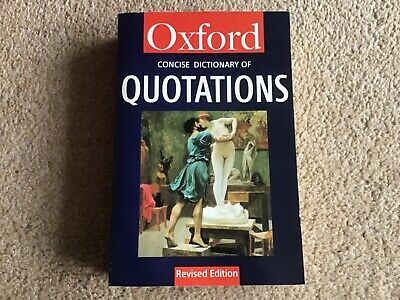 Oxford Concise Dictionary Of Quotations - Third Edition Revised • 1.50£