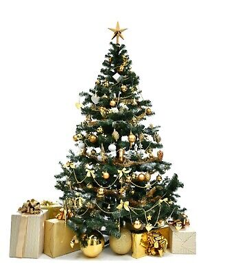 Christmas Tree Xmas Artificial 6FT Trees & Real Nordmann Fir 24 Hour Delivery! • 7.99£