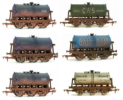 DAPOL 4F-031-0xx 6 Wheel Milk Tankers, Variants / Choices Available, OO Gauge • 16.99£