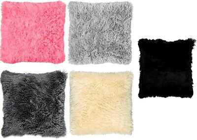 Luxury Soft Fluffy Cushion Covers Furry Scatter Cover Pillowcase 43 X 43cm • 5.99£