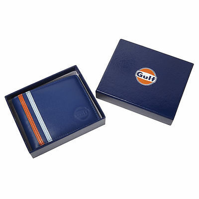 Authentic Gulf Leather Wallet  - Free Uk Ship - Le Mans - Official Merchandise • 19.99£