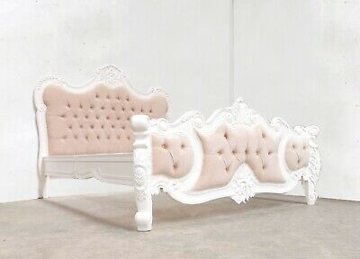 Rococo Kingsize Palais Bed White Hand Made Brand New Shabby Chic • 569£