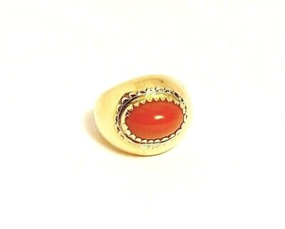 £440 • Buy 18ct 750 Vintage  Gold And Coral Ring