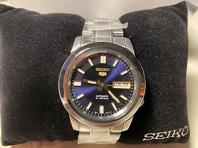 $ CDN149.90 • Buy Brand New In Box Seiko 5 Automatic Blue Dial Rare