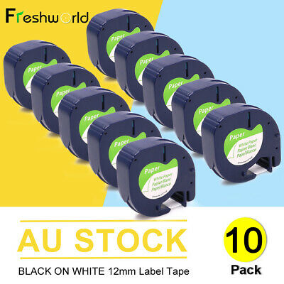 AU23.73 • Buy 91330 Compatible Dymo LetraTag Label Tape Plastic 91331 Refills LT-100H 12mm X4m