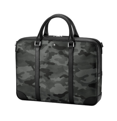 $750 • Buy Montblanc 118667 Camoflauge Sartorial Document Briefcase Bag Leather New Italy