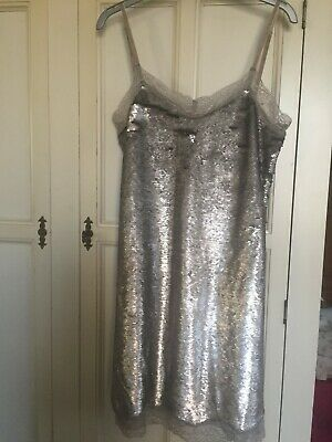 Brand New GUESS Silver Sequin Dress, Size Small (UK 8-10) • 14.99£