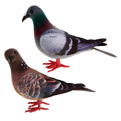 £4.50 • Buy 2x/set Pigeon Artificial Doves Simulation Ornaments Decorative Feathered Birds