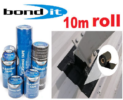 BOND IT FLASHING TAPE 10m  Lead Coloured Self-Adhesive Bitumen Roofing 100-600mm • 23.49£