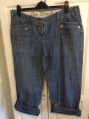 NEXT Slouch Crop Jeans 16 Ladies Womens Summer Holiday Clothes  • 3.25£