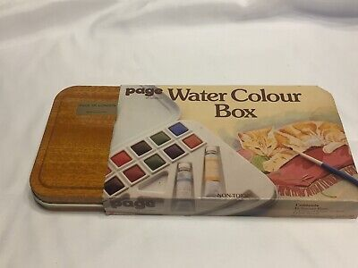Vintage Watercolour Art Paint Box Tin Made By Page Of London No.4503/20 UNUSED • 7.51£
