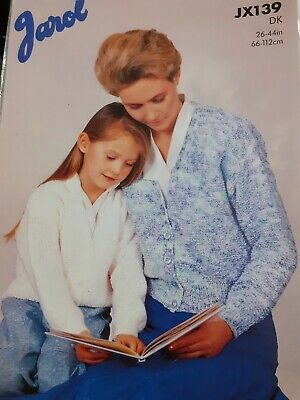 Knitting Patterns - Child To Adult Pattern - Cardigan In DK • 1£